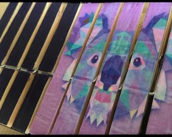 Set of 10 clothespins fantasy, standard size (Koala REF.)