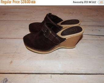 ON SALE candies clogs - size 7 -  candies mules - candies shoes - candies heels - wooden clogs