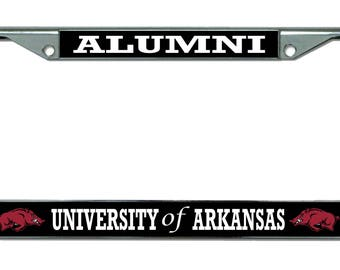 University of Arkansas Alumni Chrome License Plate Frame