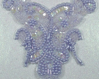 APPLIQUE EMBROIDERY BEADS AND SEQUINS
