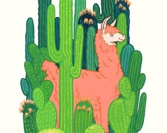 Cactus Island Print