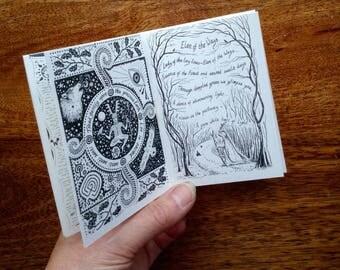 Handmade mini booklet (zine)