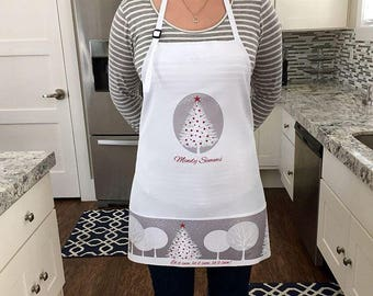 Personalized Holiday Aprons