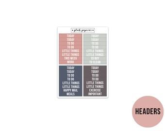 HEADERS | Celestial | Planner Stickers  | Add on | Matte