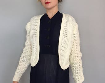 1970s Currants by Jeri Jo knit cardigan sweater