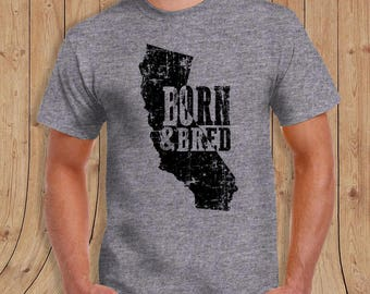 California Born and Bred t shirt- t-Shirt Mens / womens / kids 2
