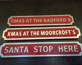 Personalised christmas street signs