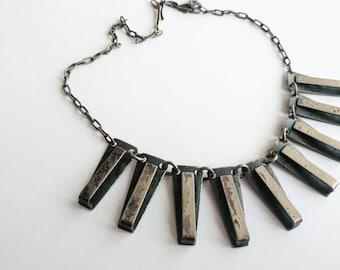 Vintage 70s space age brutalist necklace