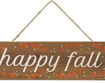 "16"" Fall Sign, Happy Fall Sign HA9001, Wood Happy Fall Sign HA9001"