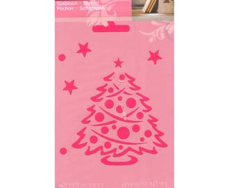 A6 size Christmas tree pattern stencil