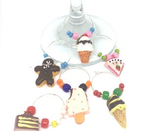 Desert Sweets Wine Charms