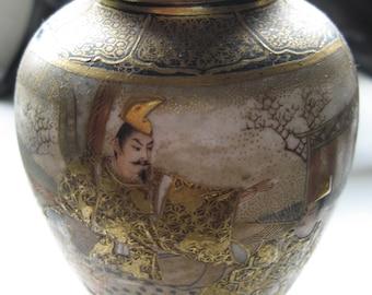 signed japanese meiji satsuma porcelain vase