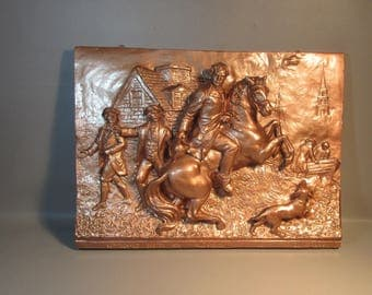 Shipping is NOT free. 1898 Cyrus Cobb Signed Sculpture The Midnight Ride Of Paul Revere Listed Artist. Contact us for a shipping quote.