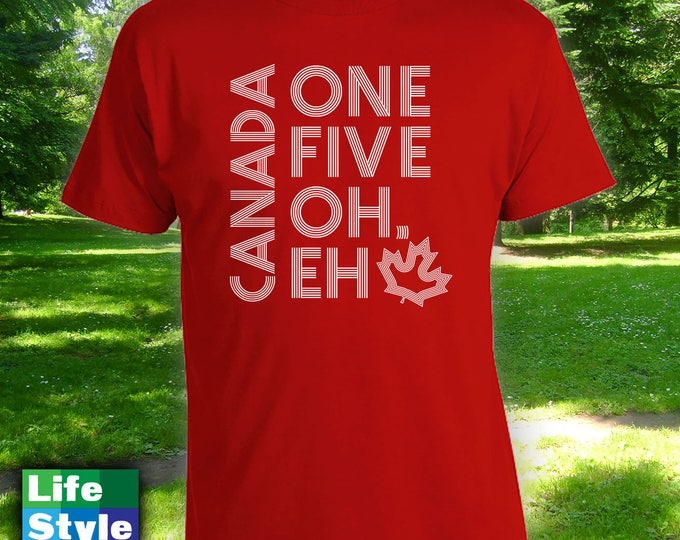 Featured listing image: Canada 150 Eh T-shirt,mens womens t-shirt,canada day tshirt,canada day shirt, anada day,happy canada day,canada 150,canadian apparel-CT-1302