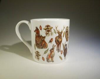 Scottish Forest Bone China Mug