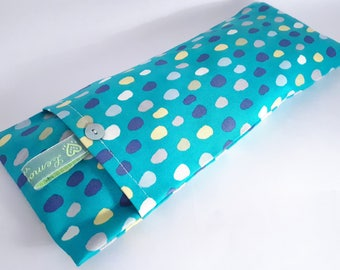 Soothing Lavender Eye Pillows - Colourful Spot Pattern