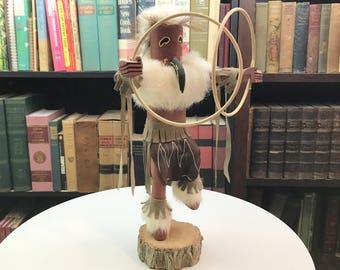 Kachina Doll - Hoop Dancer - Kachina Dancer - Hopi Doll - Hopi Kachina - Native American - Figurine - Vintage Kachina Doll