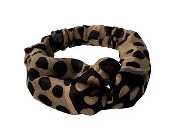 Silk Hairband Black dot