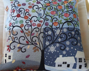 Tree Of Seasons Tapestry Cushion Cover