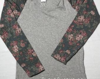 Floral Sleeved Raglan