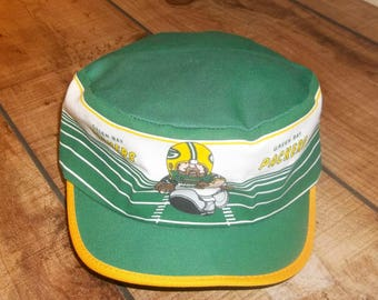 Old School Green Bay Packers Painters Cap, Trucker Cap, NFL Football, Green and Gold,  Gift for Packers Fan or Cheesehead