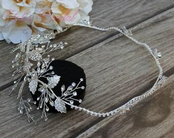 FAST SHIPPING!! Swarovski Bridal Halo, Bridal Wreath, Bridal Hair Comb, Swarovski  Hair Comb, Crystal Hair Comb, Swarovski Hairband