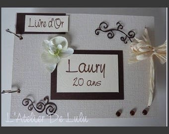 Guest book keepsake arabesques