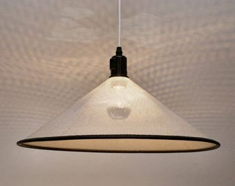 Hanging lamp with perforated hood 80