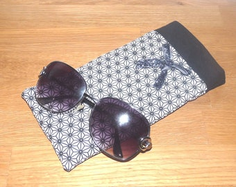 Glitter case cotton Japanese/cotton black bezel and band with bow