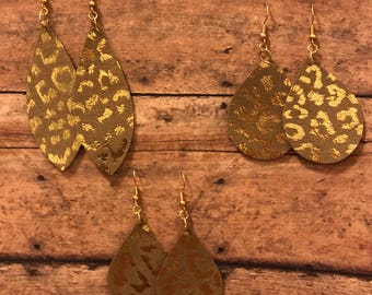 Gold metalic leopard