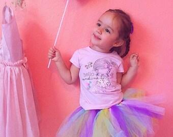 Rainbow tutu, unicorn tutu, birthday tutu, newborn photo prop, baby tutu skirt, toddler tutu skirt, baby girl gift, baby tutu 1st birthday