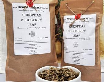 European Blueberry Leaf (Vaccinium myrtillus – Myrtylli folium) - Health Embassy - Organic