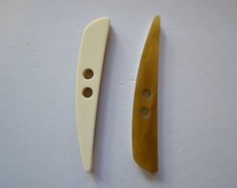button, logs, beige, 80 mm long