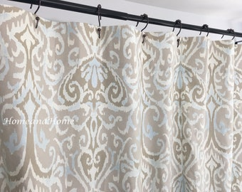 ikat shower curtain long shower curtain extra wide shower curtain 72 x 84 108 custom shower