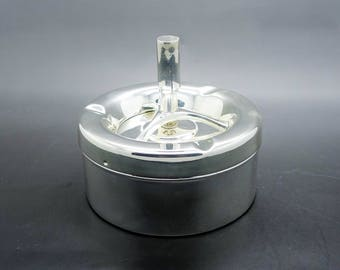 "Deco Chromed Ashtray  ""Hide the smell"" ""Hide the ash"""