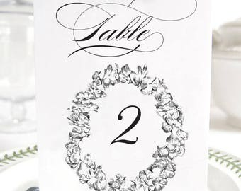 Lei Hawaiian Themed Wedding, Beach Table Numbers (1-10)