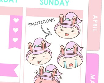 Rosie Emoticon Stickers / Planner Stickers