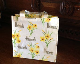 Harrods of Knightsbridge Shopping Tote, Yellow Daffodils