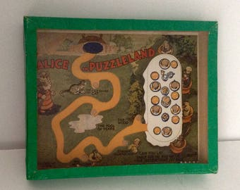 Alice in Puzzleland  A Vintage R. Journet Dexterity Puzzle Game