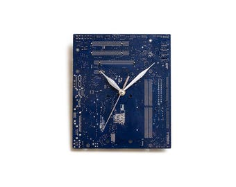 Office Wall Clock, IT Gift, Tech Gift, Tech Lover Gift, Geek Wall Clock, Geek Gift, Office Decor, Office Wall Decor, Blue Office Decor