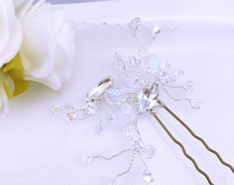 Wedding hair pins Pearl and Crystal