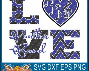 Panther Band| Panthers| SVG| DXF| EPS| Png| Cut File| Band| Mom| Dad| Vector| Silhouette| Cricut| Digital Download