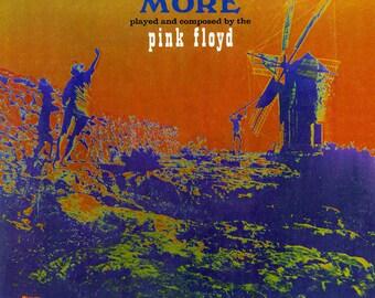 "Pink Floyd -  Soundtrack From The Film ""More"" 60's Experimental Acoustic Prog Rock Vinyl LP"