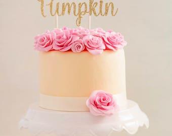 Little Pumpkin Cake Topper  |  Pumpkin First Birthday  |  Fall Cake Topper  |  Little Pumpkin Birthday Cake Topper  |  Baby Shower Topper