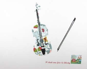 Iron on patch applied fusible violin liberty Besty applied porcelain violin collection of liberty iron on