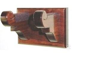Classy Wooden Instrument Hanger Guitar, Banjo, Ukelele, Wall Mount Display - Choice