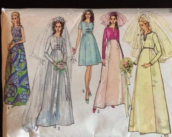 wedding dress pattern (1960/70s)