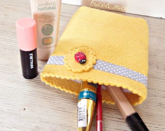 Ladybug Bag-makeup bag-school case-pen holder for school-pencil clutch bag-Ladybird makeup Bag