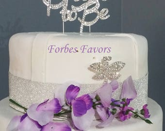 Gorgeous Bride to Be Real Rhinestone engagement Wedding Cake Topper
