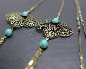 Necklace Art deco Greta, long necklace